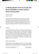 Conflicting Models of Care for People with Mental Disabilities in Charles Dickens's Fiction and Journalism