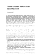 Thomas Carlyle and the Australasian Labour Movement