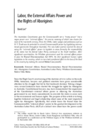 Labor, the External Affairs Power and the Rights of Aborigines
