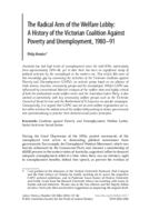 The Radical Arm of the Welfare Lobby: A History of the Victorian Coalition Against Poverty and Unemployment, 1980-91