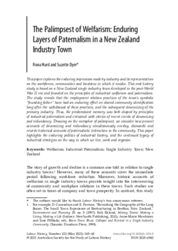 The Palimpsest of Welfarism: Enduring Layers of Paternalism in a New Zealand Industry Town