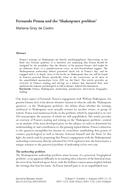 Fernando Pessoa and the 'Shakespeare problem'