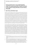 Strategy and Structure in a Successful Organising Union: The Transformational Role of Branch Secretaries in the Australian Nursing Federation, Victorian Branch, 1989-2009