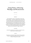 Going Native: reStorying Theology and Hermeneutics