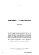 Performing Faith Differently