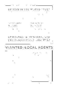 WANTED: LOCAL AGENTS