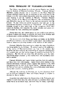 SOME PROBLEMS OF MARXISM-LENINISM