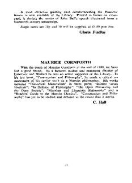 MAURICE CORNFORTH