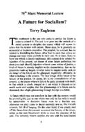 70th Marx Memorial Lecture