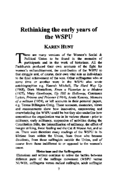 Rethinking the early years of the WSPU