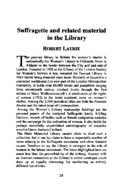 Suffragette and related material in the Library