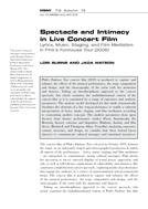 Spectacle and Intimacy in Live Concert Film