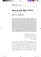 Sound and (No) Vision