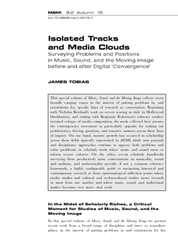 Isolated Tracks and Media Clouds