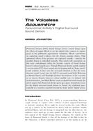 The voiceless Acousmêtre