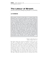 The Labour of Breath