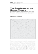 The Soundscape of the Cinema Theatre
