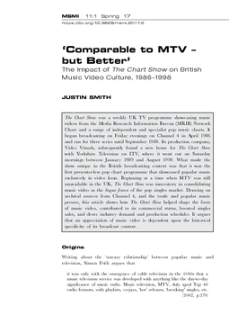 'Comparable to MTV – but Better'