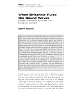 When Britannia Ruled the Sound Waves