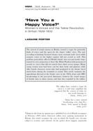 'Have You a Happy Voice?'