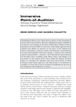 Immersive Point-of-Audition
