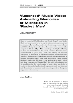 'Accented' Music Video: Animating Memories of Migration in 'Rocket Man'