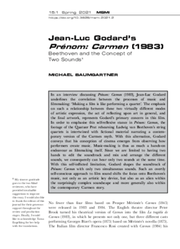 Jean-Luc Godard's Prénom: Carmen (1983)
