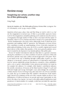 Review essay: Imagining our selves: another step for sf film-philosophy