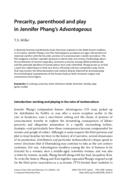 Precarity, parenthood and play in Jennifer Phang's Advantageous