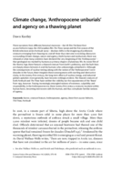 Climate change, 'Anthropocene unburials' and agency on a thawing planet