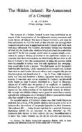 The Hidden Ireland: Re-Assessment of a Concept