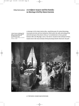 A sculptor-mayor and his family: Le Mariage Civil by Henri Gervex