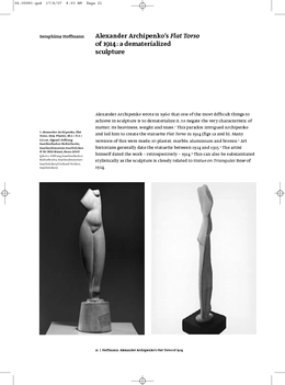 Alexander Archipenko's Flat Torso of 1914: a dematerialized sculpture