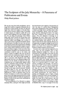 The Sculpture of the July Monarchy - A Panorama of Publications and Events
