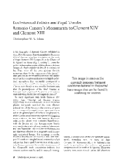 Ecclesiastical Politics and Papal Tombs: Antonio Canova's Monuments to Clement XIV and Clement XIII