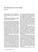 The Monument Comes of Age