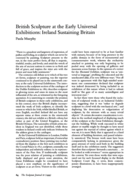 British Sculpture at the Early Universal Exhibitions: Ireland Sustaining Britain