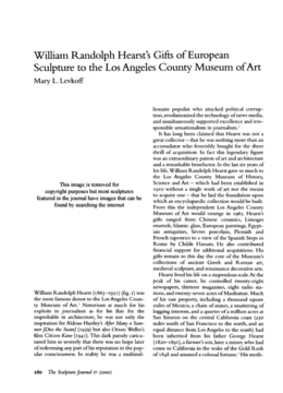 William Randolph Hearst s Gifts of European Sculpture to the Los Angeles County Museum of Art