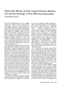 Hepworth, Moore and the United Nations: Modern Art and the Ideology of Post-War Internationalism