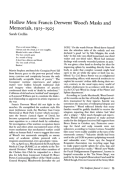 Hollow Men: Francis Derwent Wood's Masks and Memorials, 1915-1925