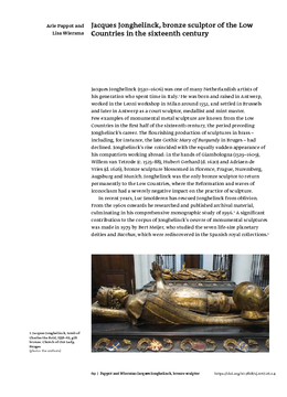 Jacques Jonghelinck, bronze sculptor of the Low Countries in the sixteenth century
