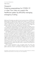 Fostering preparedness for COVID-19 in cities: how cities can support the healthcare system by efficiently managing emergency funding