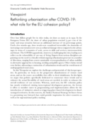 Rethinking urbanisation after COVID-19: what role for the EU cohesion policy?