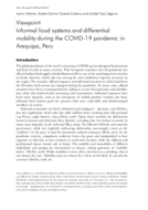 Informal food systems and differential mobility during the COVID-19 pandemic in Arequipa, Peru