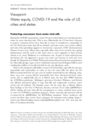 Water equity, COVID-19 and the role of US cities and states