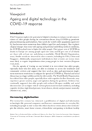 Ageing and digital technology in the COVID-19 response