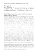The COVID-19 pandemic: impetus for place- and people-based infrastructure planning