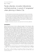 Trendy urbanists, innovation laboratories and best practices: in pursuit of 'progressive' urban planning in Mexico City