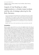 Impacts of river flooding on urban agglomerations: a climate-impact analysis and the role of strategic planning for the Ruhr, Germany