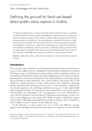 Defining the ground for land-use-based direct public-value capture in Austria
